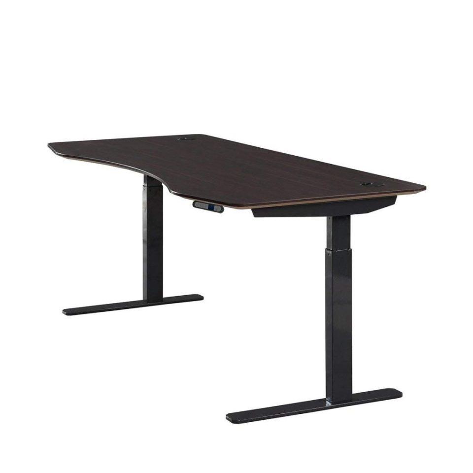 ApexDesk Elite Standing Desk - Walnut Top With Black Frame