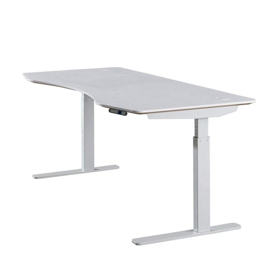 ApexDesk Elite Standing Desk - Off-White Top With Off-White Frame