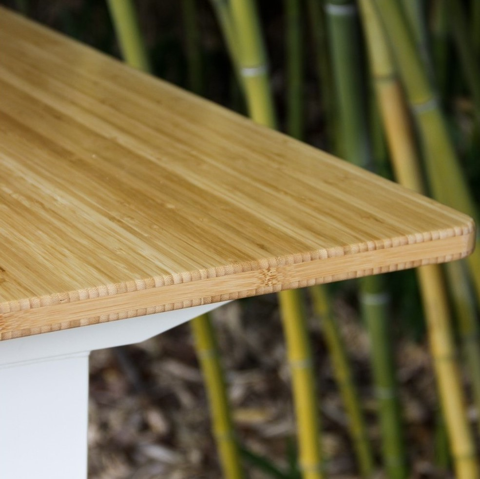 Fully Jarvis Standing Desk - Bamboo Top Detail