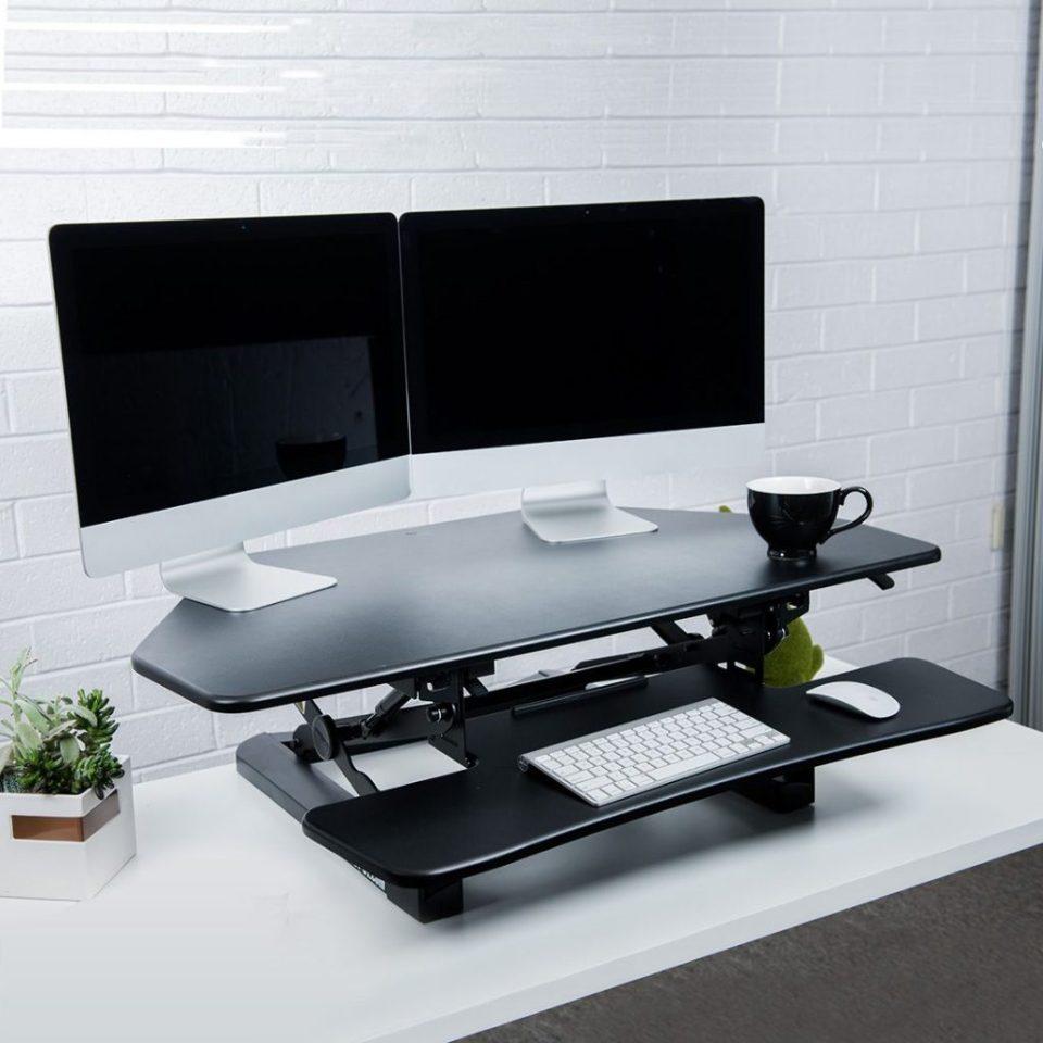 "Flexispot M4B Corner 41"" - Best Standing Desk Converters"