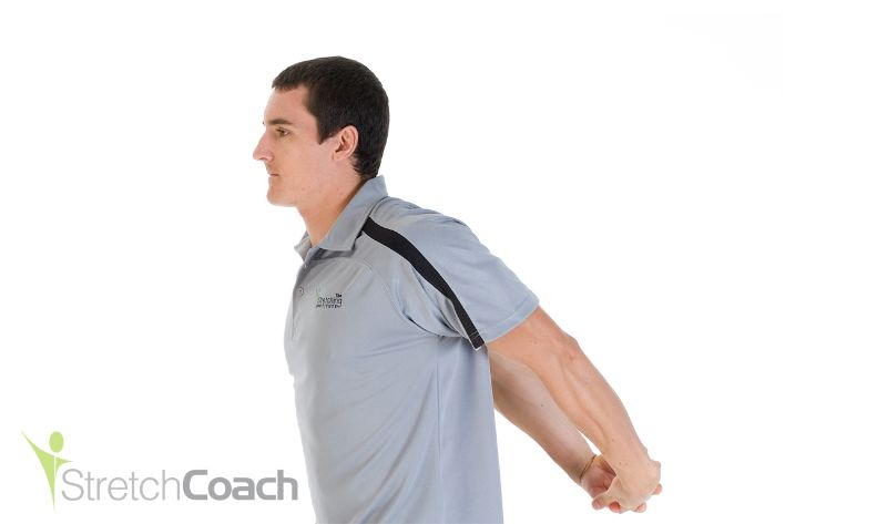 reverse shoulder stretch