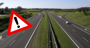 diaľnica pozor
