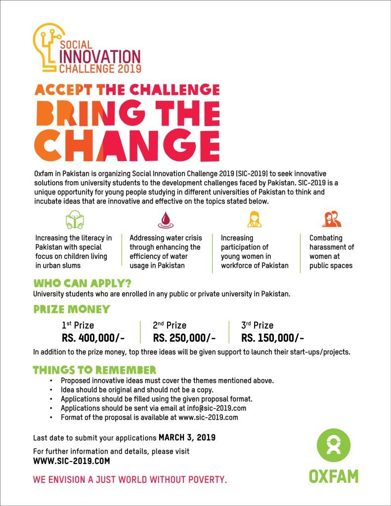 Social Innovation Challenge 2019 For University Students Deadline
