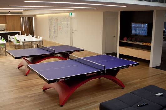 Campaign Monitor take ping pong very seriously | Source: Campaign Monitor Blog