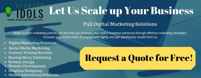 Request a Quote for Digital Marketing Solutions by Startup Idols