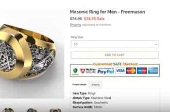 Masonic Ring for Men