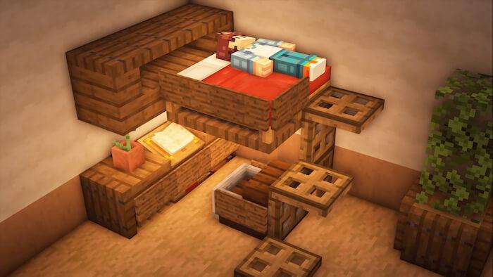 Mini Bedroom In Minecraft
