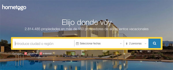 HomeToGo, el comparador de alquileres vacacionales más grande del mundo aterriza en España