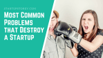 Most Common Problems that Destroy a Startup