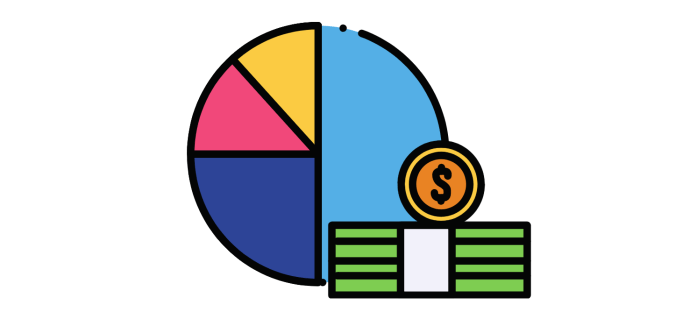 Investments Pie Chart of Financial Asset Allocation