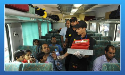 Fast food on fast trains, dominos, McDonald, fast food, Shatabdi Express, Shatabdi trains, Rajdhani trains, KFC, Switz Foods, Haldiram, Bikanerwala ad Nirulas, Shatabdi, Rajdhani, Premium Trains, Humsafar, Suresh Prabhu, Railways, indian railways, railway minister suresh prabhu, travel and food, fast foods in indian trains, irctc, irctc meals, indian railways meals, irctc food chains, irctc food order, indian railways pre book food, pre-order meal, startupstories, startup stories india, startupstories 2017, Online food order railways, Fast food Indian railways, Food order Indian railways, e-catering services