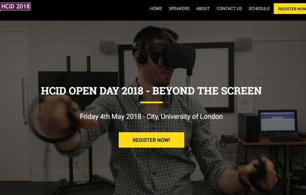 Screen grab of HCID2018 Open Day website