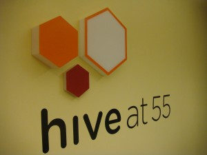 I guess a hive is where people work in close proximity