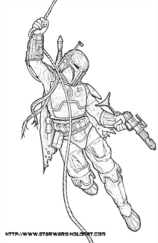 boba fett coloring pages hicoloringpages