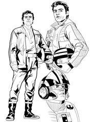 Poe Dameron schetsen door tekenaar Phil Noto. (Foto: Marvel Comics)