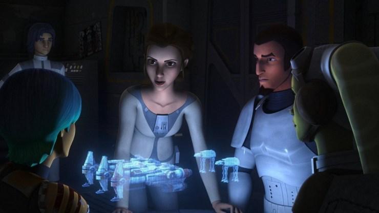 Princess Leia en de Rebels groep.