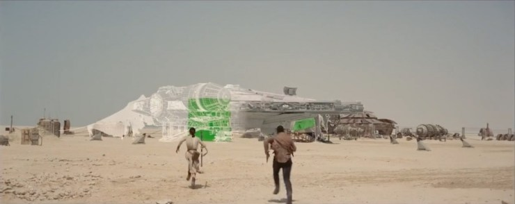 De Millennium Falcon on Jakku