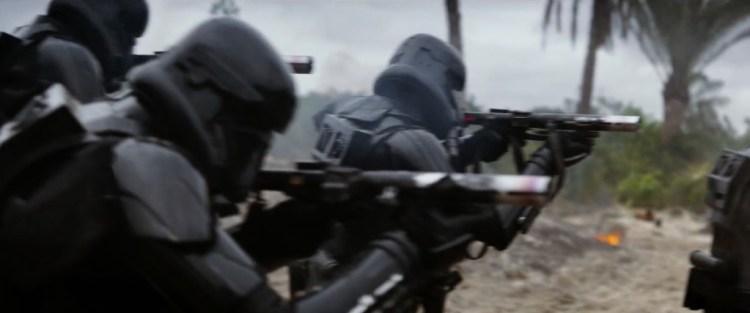 De zwarte Stormtroopers in actie.