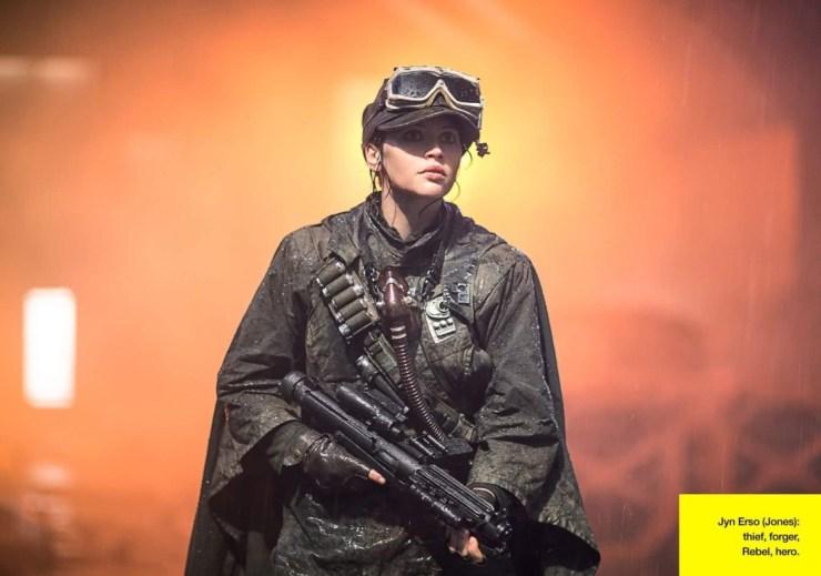 Op deze foto zien we Jyn in een outfit die we nog niet veel gezien hebben. Waar en wanneer zal deze scene zich afspelen?