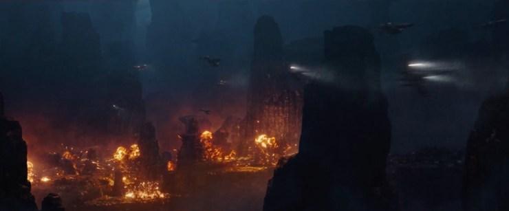 In dit shot zien we Rebel Alliance en Imperial schepen in gevecht.