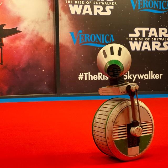 Mijn D-0 op de rode loper tijdens de Rise of Skywalker premiere in Amsterdam.