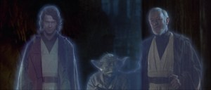 """el cierre en la versión Blue Ray de """"el retorno del Jedi"""" con Hayden Christensen interpertando a Anakinfuente"""