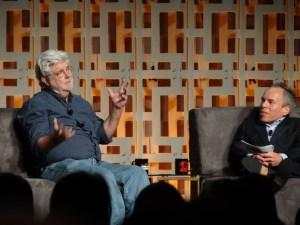 George Lucas y Warwick Davis