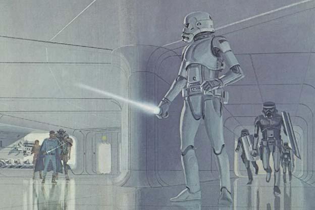 Image result for Stormtrooper concept art lightsaber