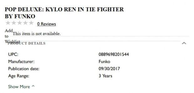 Nouvelle preuve du chasseur TIE personnel de Kylo Ren dans Les Derniers Jedi