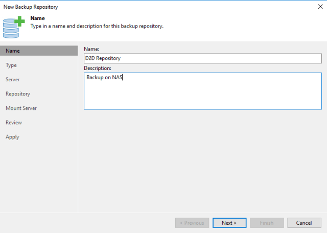 new backup repository name