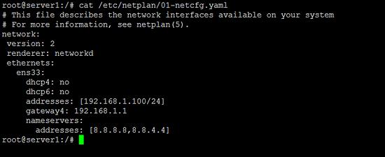 Ubuntu neetwork configuration with netplan
