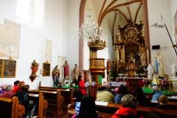 Uvnitř kostela sv. Bartoloměje v Kondraci