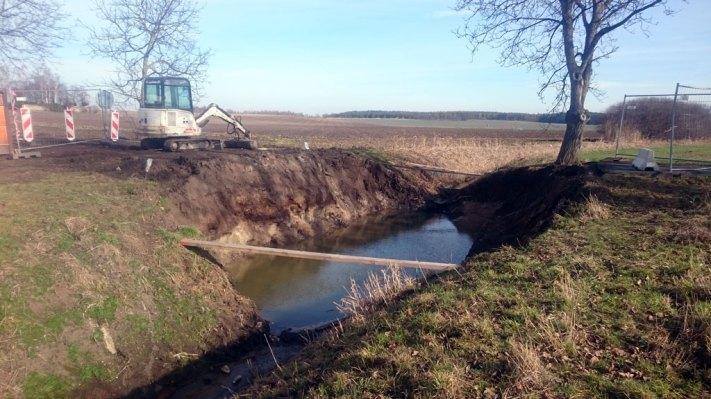 Stav opravy silnice na Hlízov