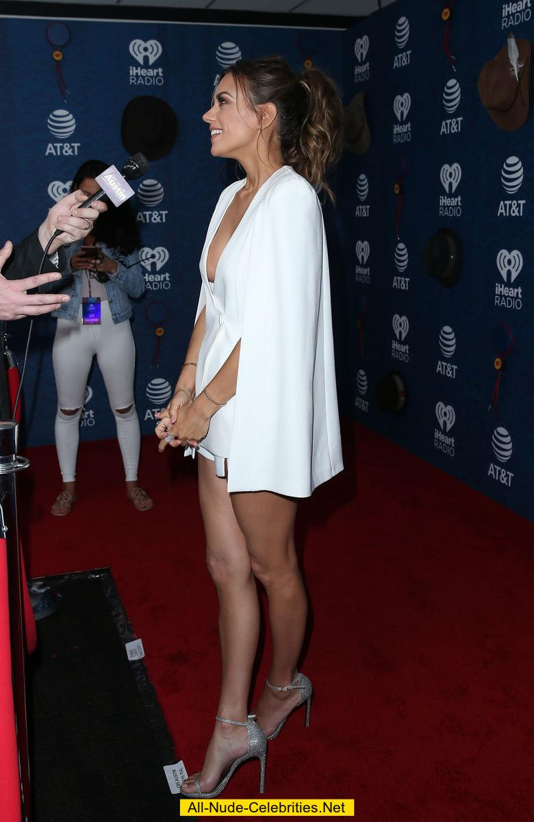 Jana Kramer Sexy Legs And Cleavage In A Low Cut Dress
