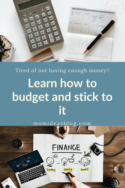 Learn how to budget, stick to it