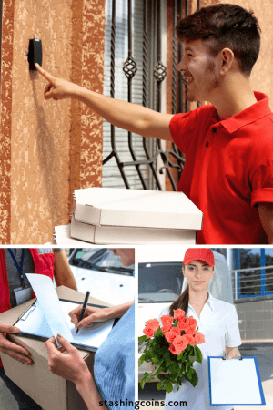 Take up a delivery during holiday to earn extra cash