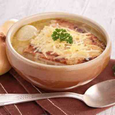 Quick affordable french onion soup
