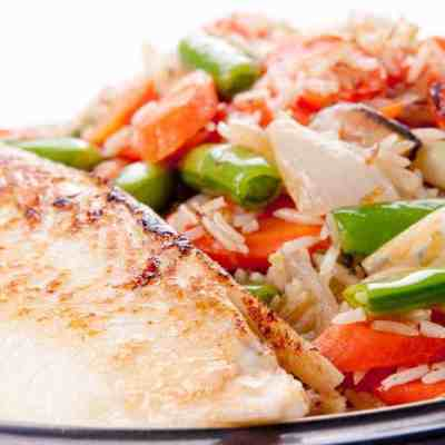 Easy 4 ingredient tilapia over rice dinner for a busy week night