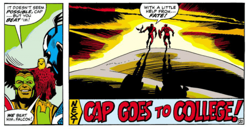 Cap beat the Red Skull