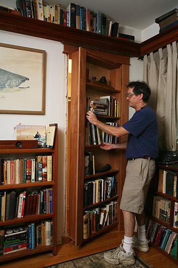 hidden bookcase door plans