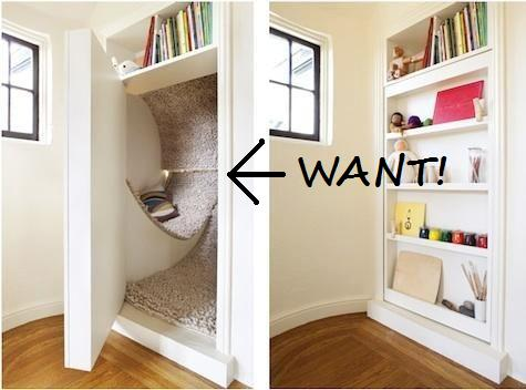 The definition of a book nook.
