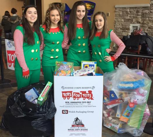 Troop 40436 hosted a movie morning and collected 93 toys for Toys for Tots.