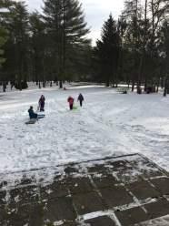 Troop 40429 enjoys a snowy weekend at Camp Golden Pond.