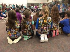 Troop 40429 listens to the opening instructions.