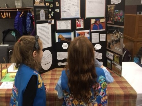 Troop 41123 learns about Kenya.