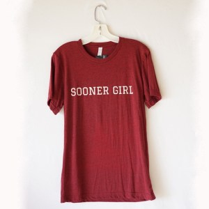 Oklahoma Sooner Girl Short Sleeve T-Shirt
