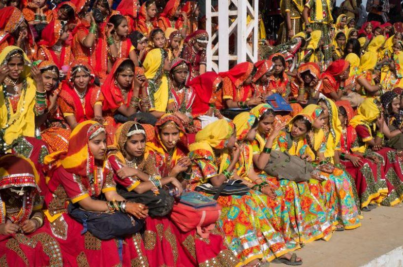 Bridal competition in Pushkar Camel fair