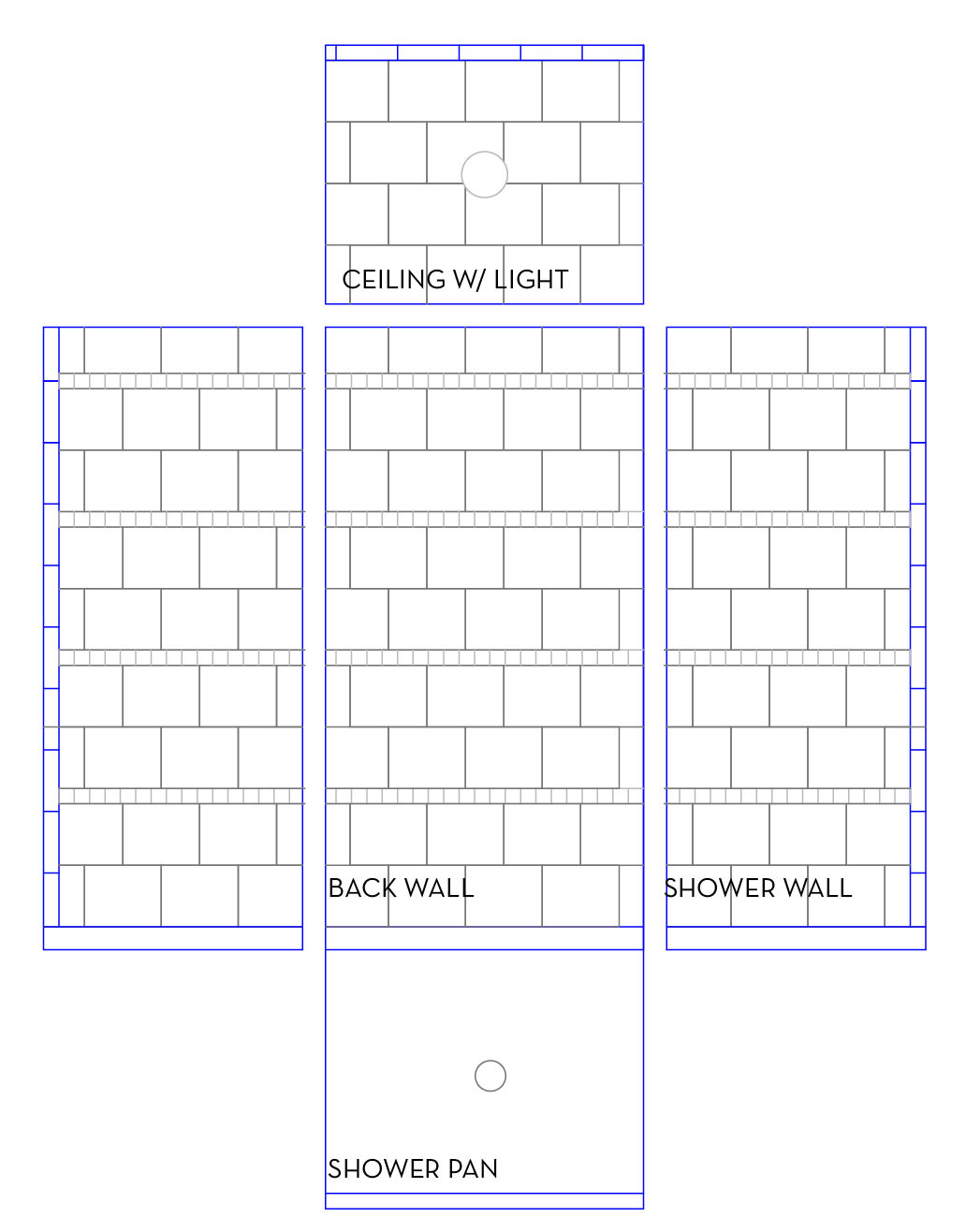 our basement part 21 shower tile update sconce choices stately kitsch