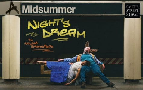 promotional image of two people embracing each other in the seating area on the mta train platform
