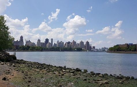 from Hallet's Cove you can see Randall's Island
